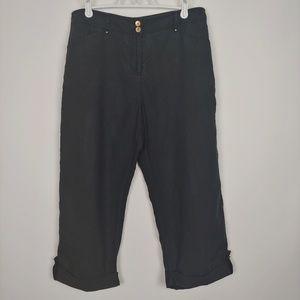 Jones New York Sport Petite Linen Crops Size 10P